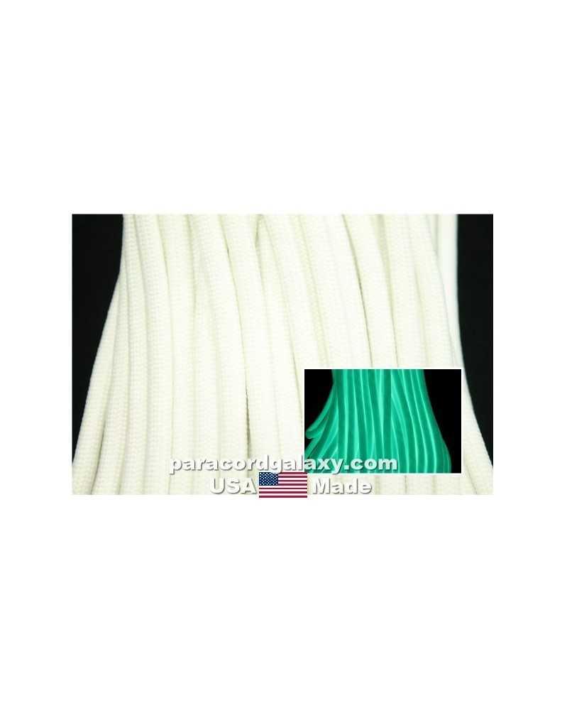550 Paracord Glow in the Dark White Made in USA