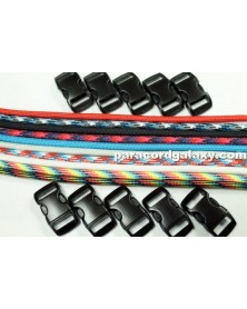 550 Paracord - 50/50 (B) Solid & Multi-Color Bracelet Kit 5