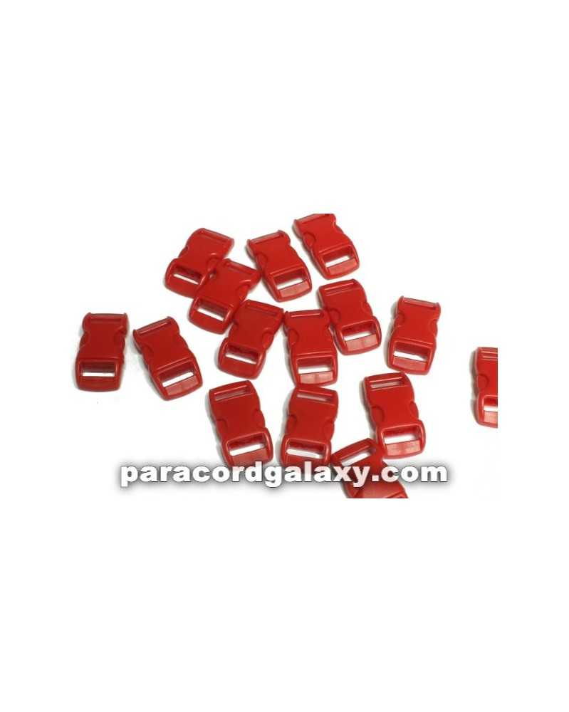 "10 PACK - 3/8"" - RED - Side Release Buckles"