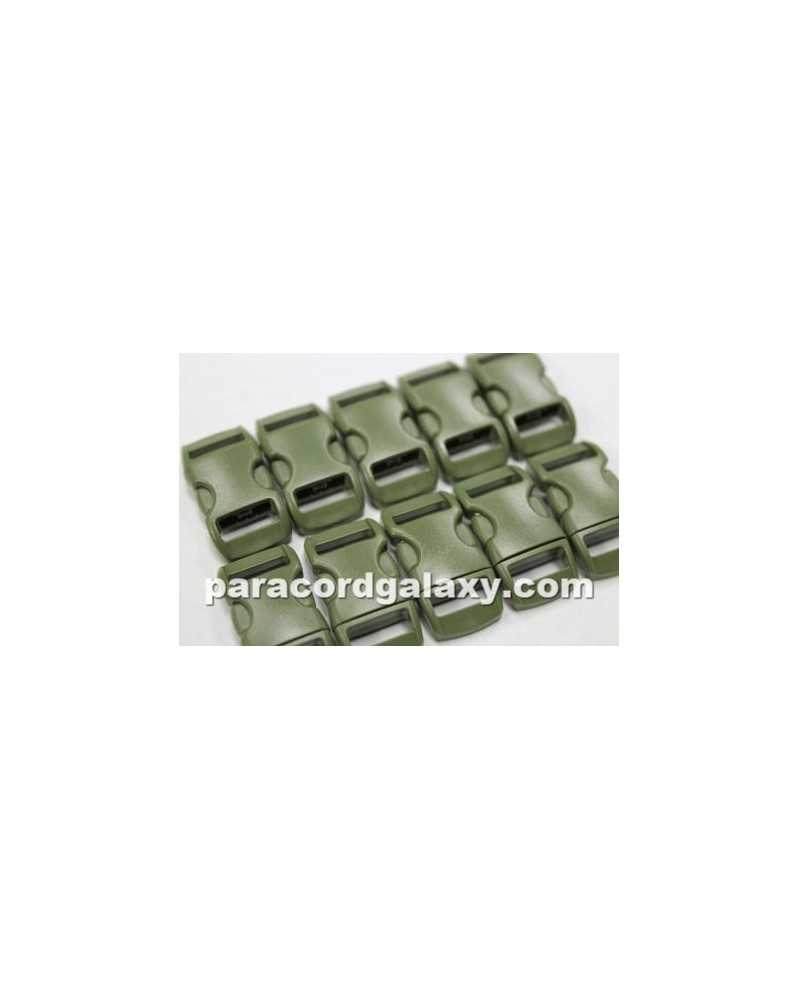"10 PACK - 3/8"" - MILITARY GREEN - Side Release Buckles"