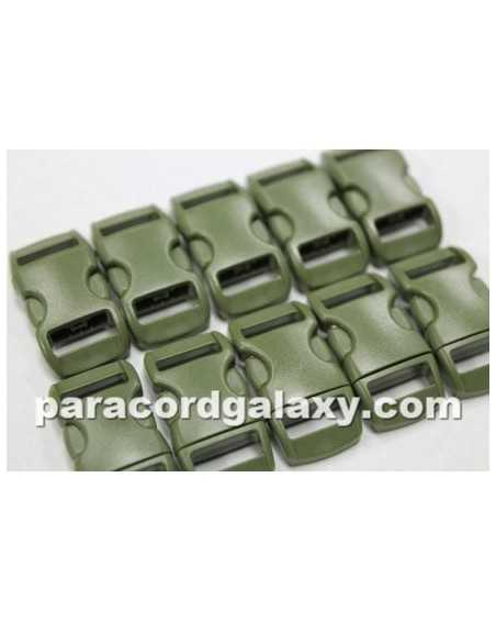 3/8 IN - MILITARY GREEN - Side Release Buckles