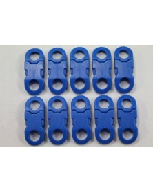 1/4 IN - BLUE - Side Release Buckles with Round Ends