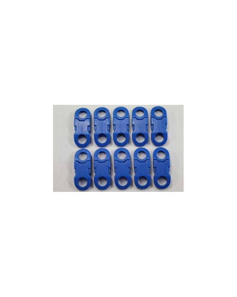"10 PACK  -  1/4"" -  BLUE - Side Release Buckles with Round Ends"