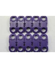 "10 PACK  -  1/4"" - PURPLE - Side Release Buckles with Round Ends"