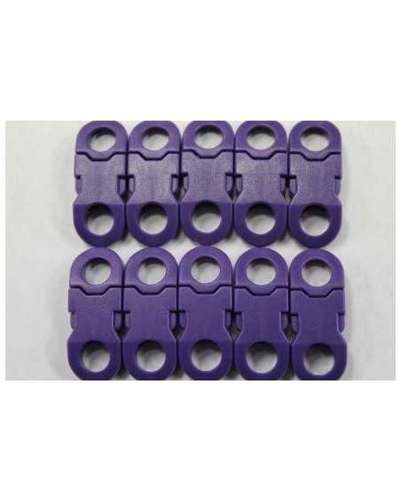 1/4 IN - PURPLE - Side Release Buckles with Round Ends