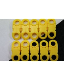1/4 IN - YELLOW - Side Release Buckles with Round Ends