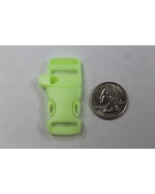 "10 PACK  -  1/2"" - GLOW in the DARK - FLAT Whistle - Side Release  Buckles"