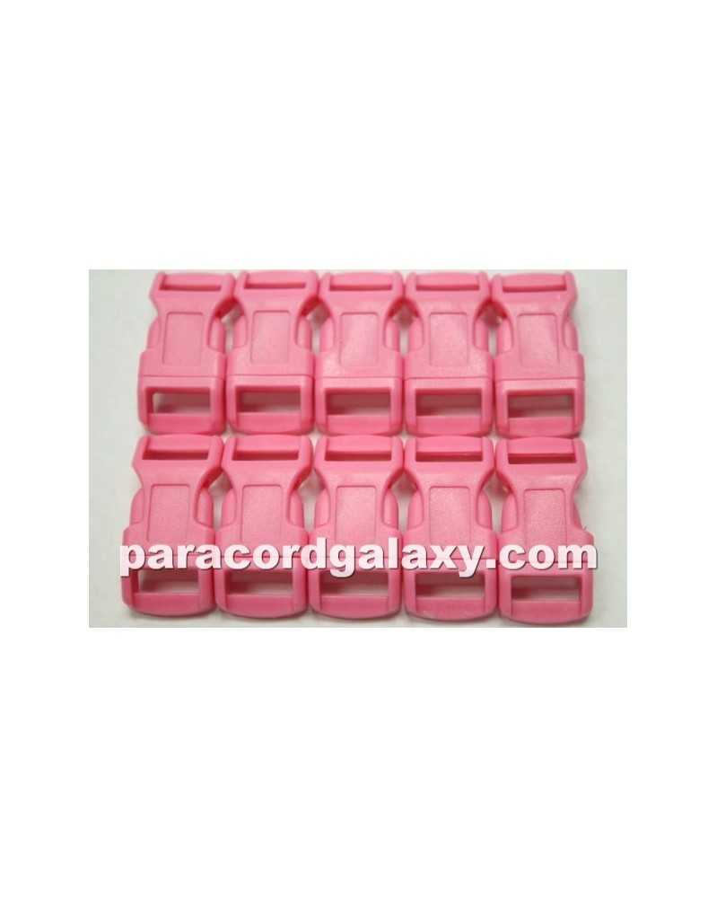 "10 PACK  -  1/2"" - PINK - Side Release Buckles"