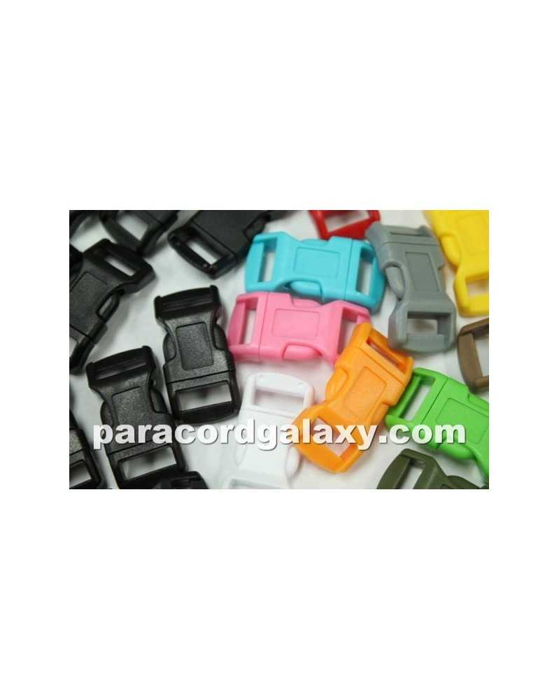 """125 PACK  -  1/2"""" - 100MIXED COLORS + 25BLACK - Side Release Buckles"""