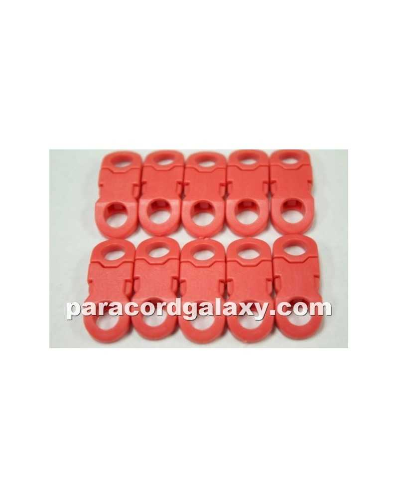"""10 PACK - 1/4"""" - RED LITE - Side Release Buckles with Round Ends"""