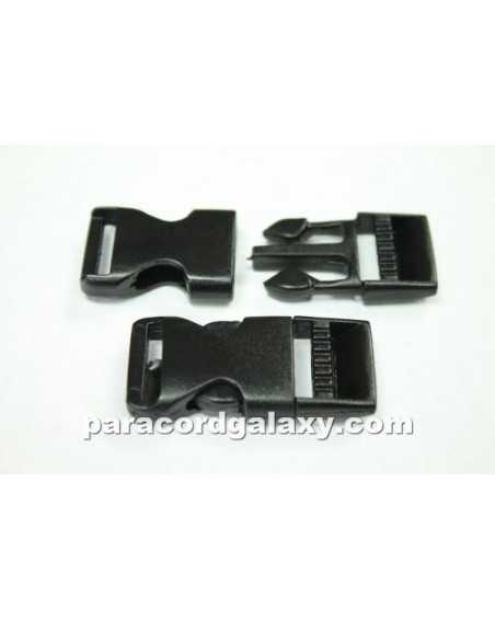 5/8 IN - FLAT Side Release Buckles - BLACK