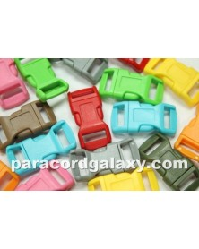100 PACK - 1/2 IN - (100 Mixed Colors) Side Release Buckles