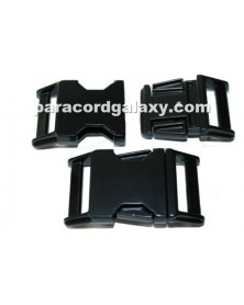"BZ 1"" - BLACK HIGH POLISH ZINC - Side Release Buckle"