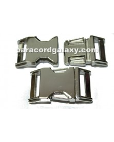 BZ 1 IN - HIGH POLISHED NICKEL PLATED ZINC - Side Release Buckle