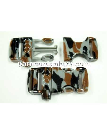 Flat 5/8 IN Urban Camo (Narrow Pattern) Whistle Buckle
