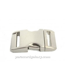 "BZ 1"" - HIGH POLISH SATIN ALUMINUM - Side Release Buckle"