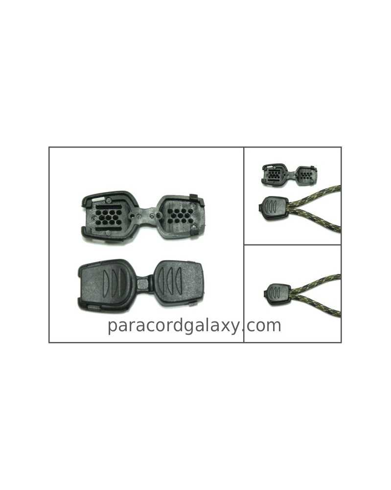 10 PACK - Zipper Pull/Cord-End for Paracord & Bungee/Shock Cord
