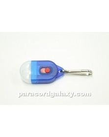 Mini LED Zipper Pull Light for Type 1 & Micro Paracord - Blue