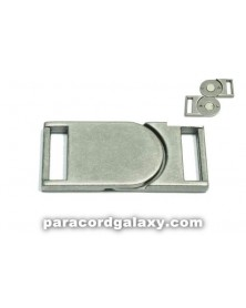 "SINGLE 5/8"" - Flat Magnetic Buckles - Ancient Silver"