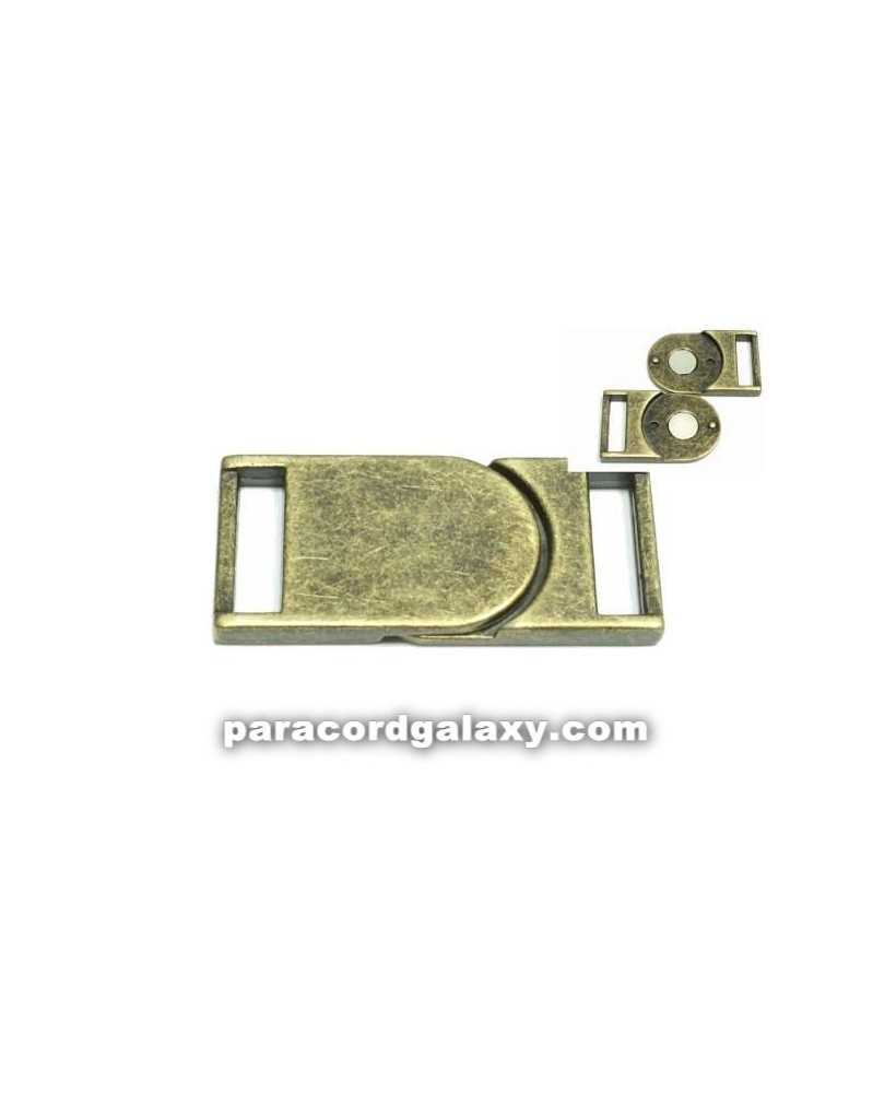 "SINGLE 5/8"" - Flat Magnetic Buckles - Ancient Bronze"