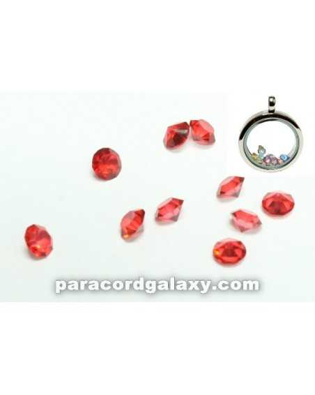 Birthstone Floating Charms Red