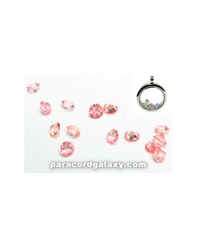 SINGLE - Birthstone Floating Charms Light Pink