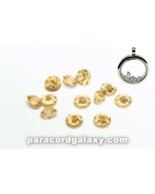 SINGLE - Birthstone Floating Charms Topaz