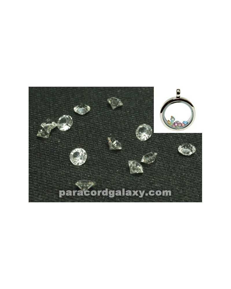 SINGLE - Birthstone Floating Charms Clear
