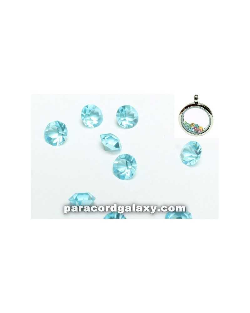 SINGLE - Birthstone Crystal Floating Charms Sky Blue