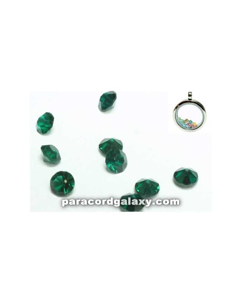 SINGLE - Birthstone Crystal Floating Charms Emerald Green