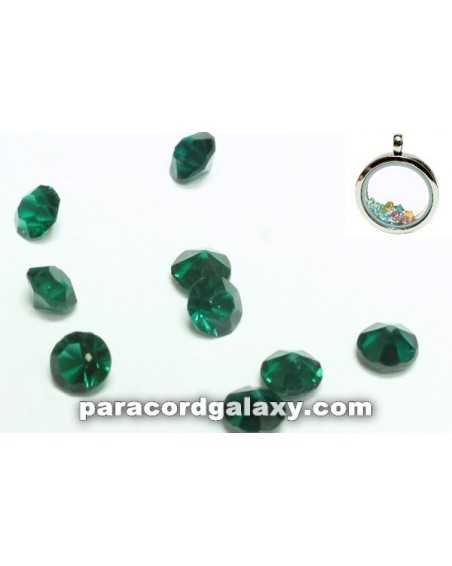 Birthstone Crystal Floating Charms Emerald Green