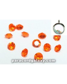 Birthstone Crystal Floating Charms Orange