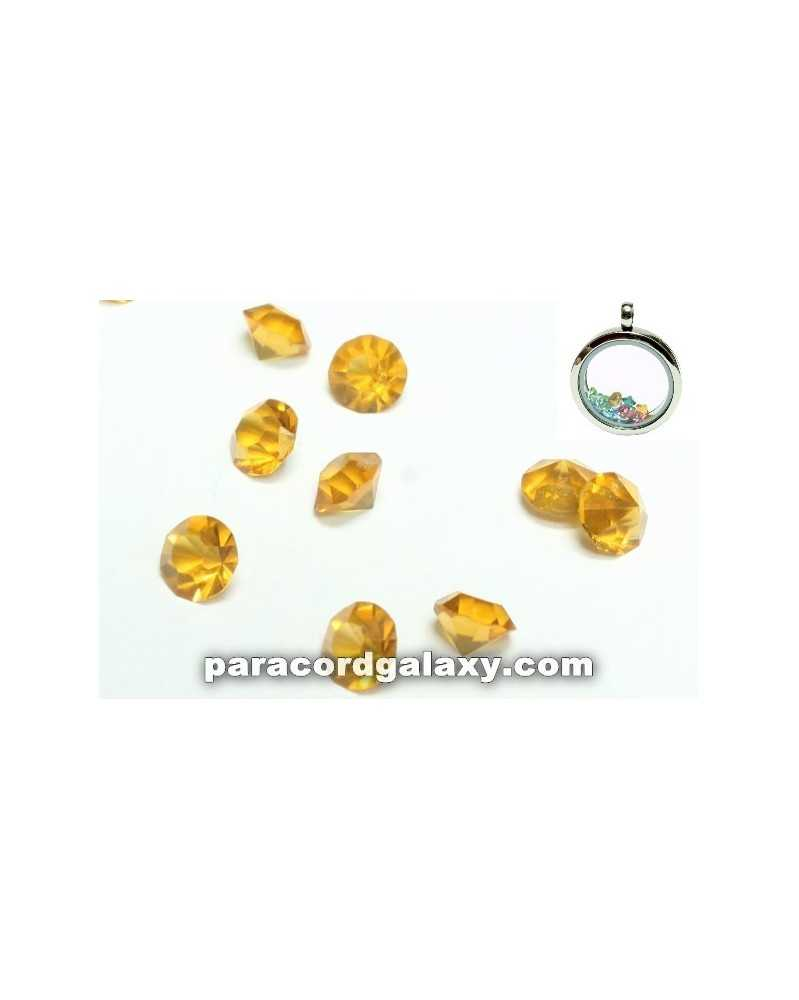 SINGLE - Birthstone Crystal Floating Charms Topaz
