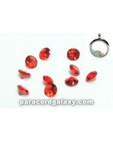 SINGLE - Birthstone Crystal Floating Charms Red