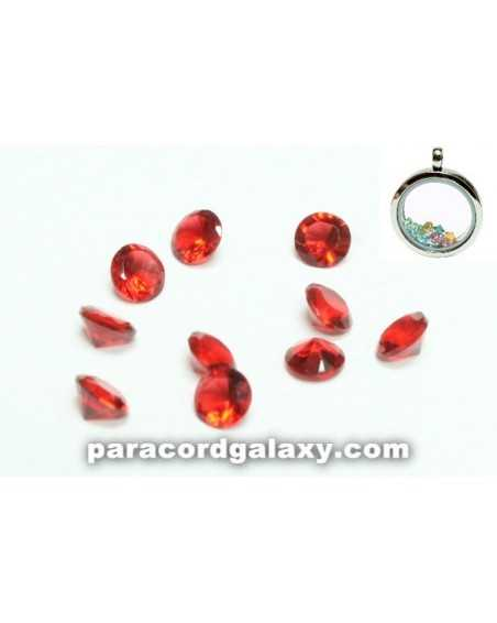 Birthstone Crystal Floating Charms Red