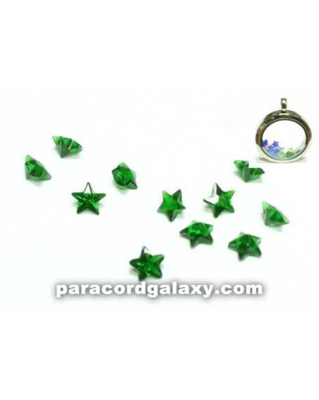 Birthstone Star Floating Charms Green