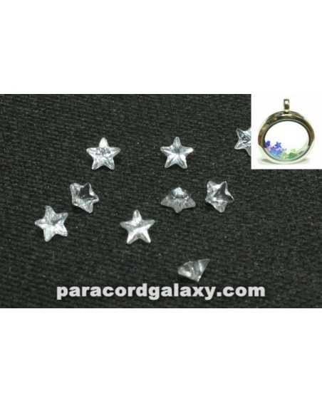 Birthstone Star Floating Charms Clear