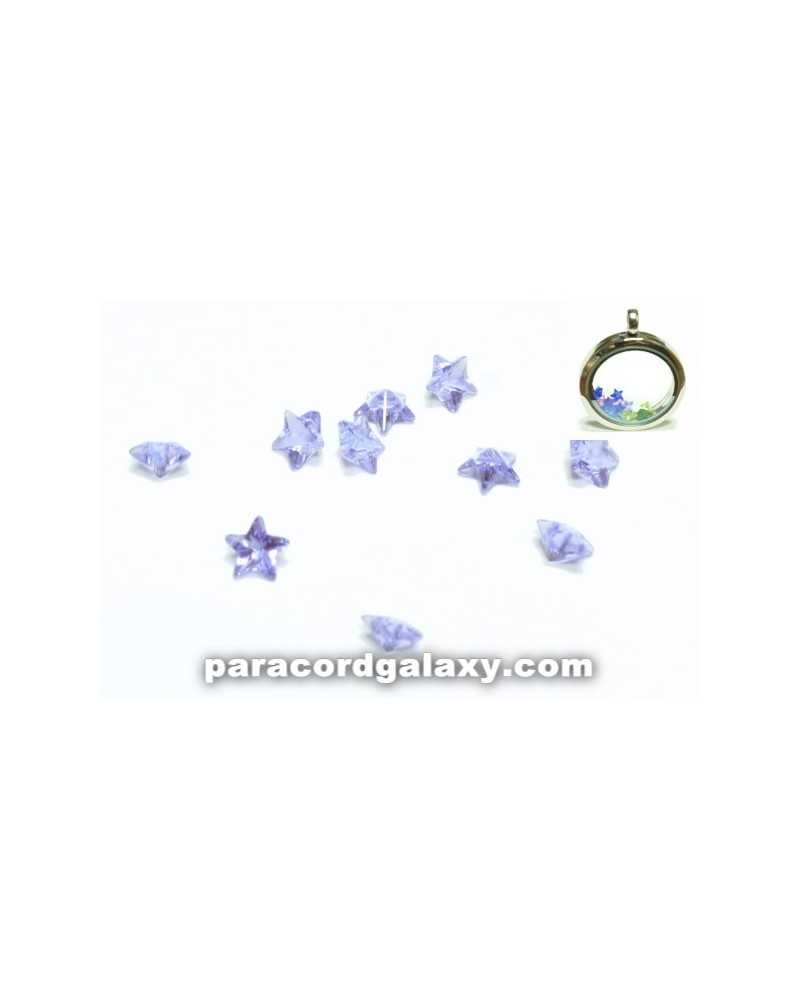SINGLE - Birthstone Star Floating Charms Light Purple