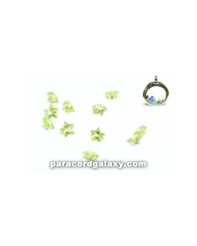 SINGLE - Birthstone Star Floating Charms Light Green