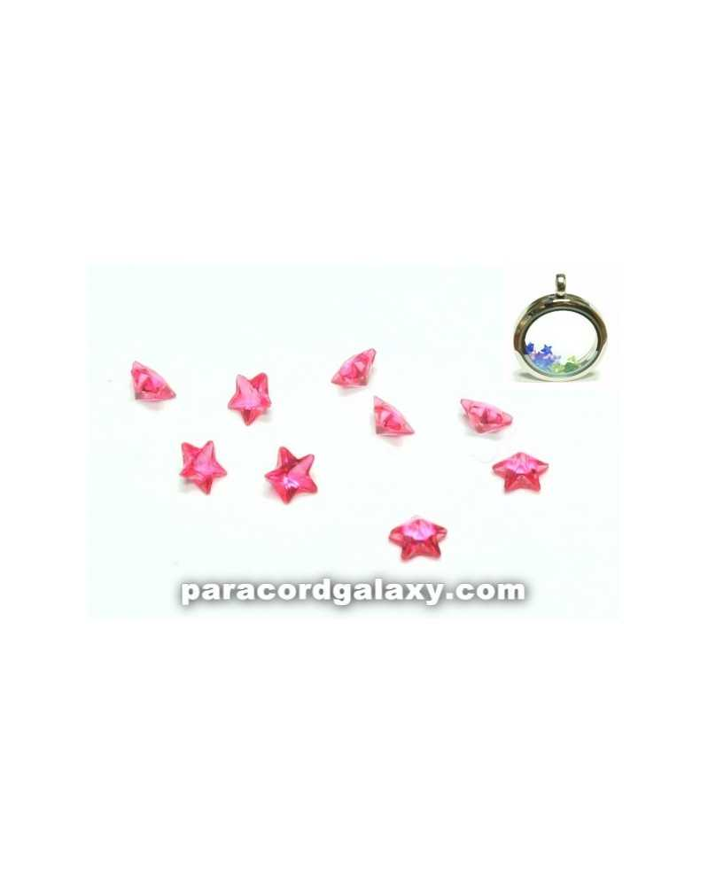 SINGLE - Birthstone Star Floating Charms Pink