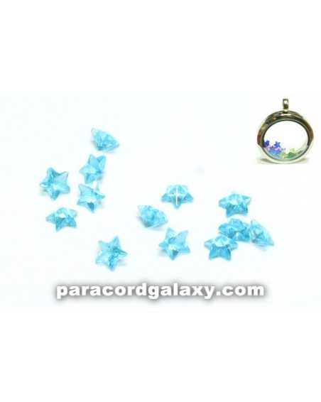 Birthstone Star Floating Charms Aqua Blue