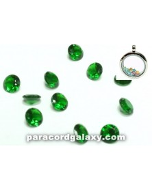 Birthstone Crystal Floating Charms Green