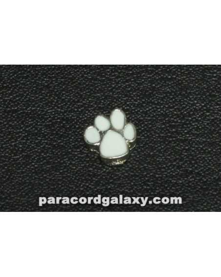 Floating Charm Paw Print White