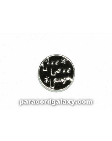 Floating Charm Round - Live, Love, Laugh - Black