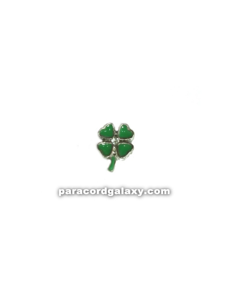 Floating Charm Clover Four Leaf with Jewel