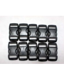 "10 PACK - 3/8"" - BLACK - Side Release Buckles"
