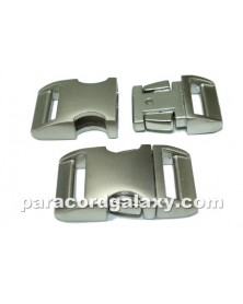 "BZ 3/4"" - HIGH POLISH SATIN ALUMINUM - Side Release Buckle"