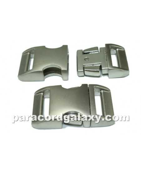 BZ 3/4 IN - HIGH POLISH SATIN ALUMINUM - Side Release Buckle