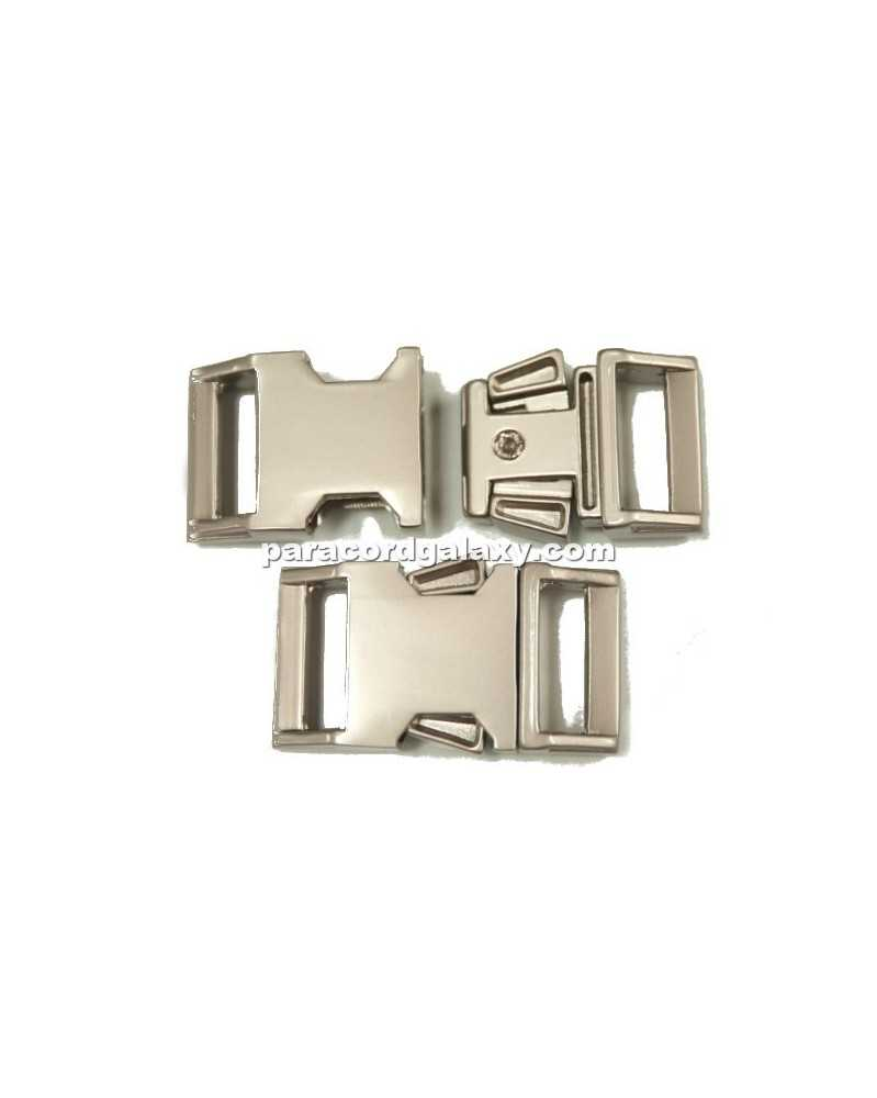 "BZ 5/8"" - HIGH POLISH SATIN PLATED ZINC - Side Release Buckle"