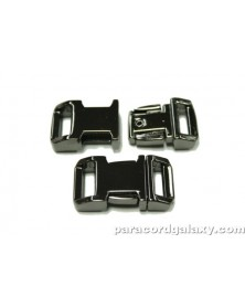 "BZ 1/2"" - MIRROR BLACK ZINC - Side Release Buckle"